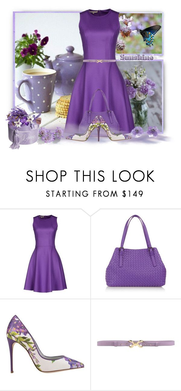 """""""Lavender and Lilac"""" by loveroses123 ❤ liked on Polyvore featuring Michael Kors, Bottega Veneta, Dolce&Gabbana, Moschino Cheap & Chic and Chanel"""