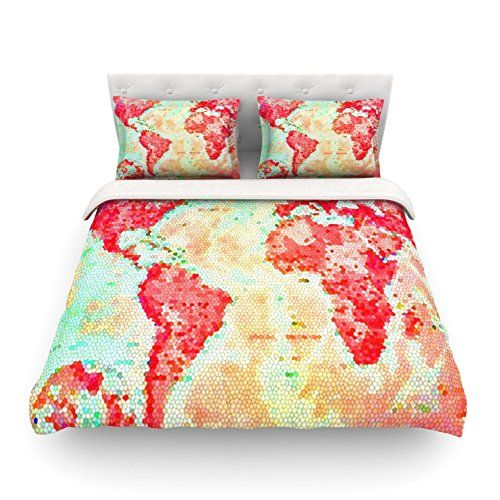 Kess inhouse alison coxon oh the places well go world map twin kess inhouse alison coxon oh the places well go world map twin cotton duvet cover 68 by 88 inch kess inhouse httpamazondpb00l65mj9iref gumiabroncs Image collections