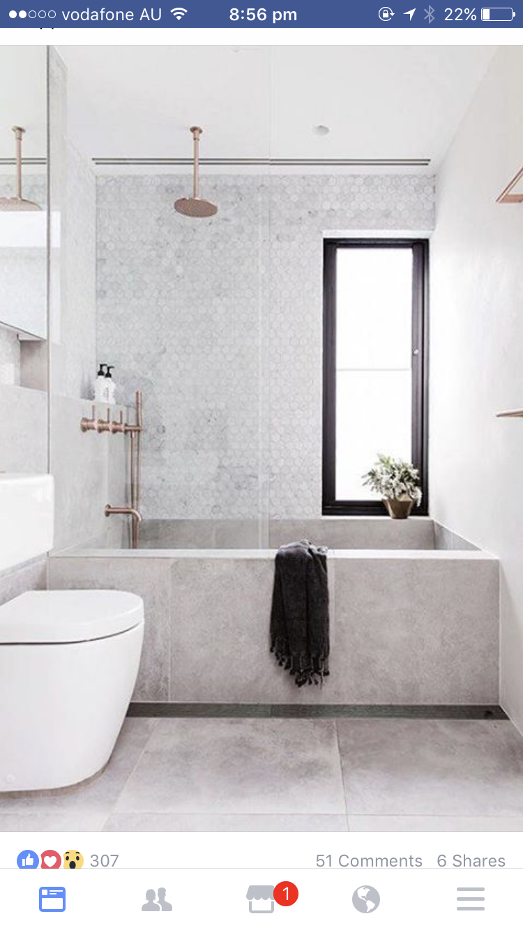 Tapware Matt copper finish and bathroom tiles | Home | Pinterest ...