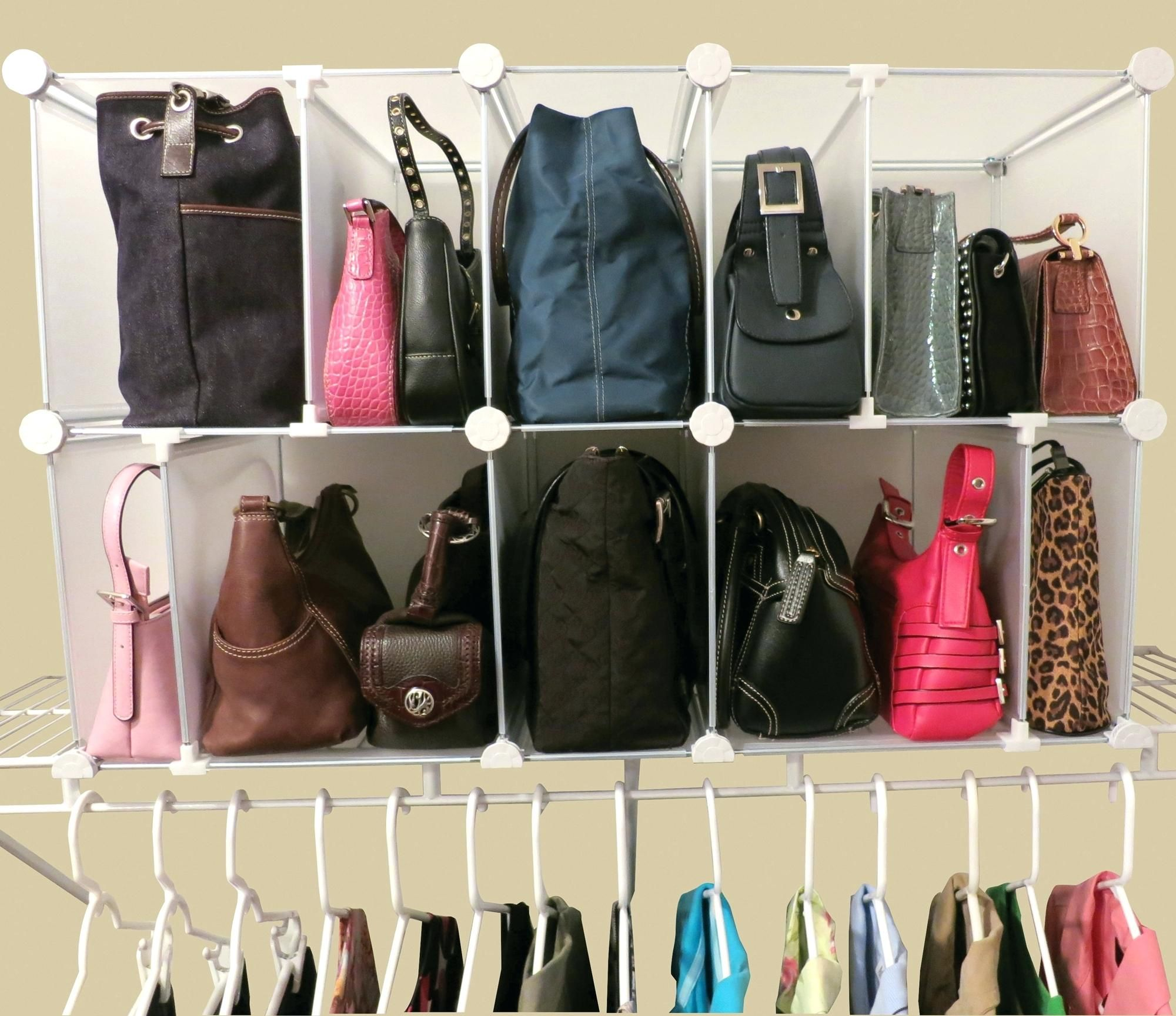 Purse Cubby Organizer Modular Imagehanging Storage Bags Shelf Closet Organization Organizing Purses In Closet Handbag Storage