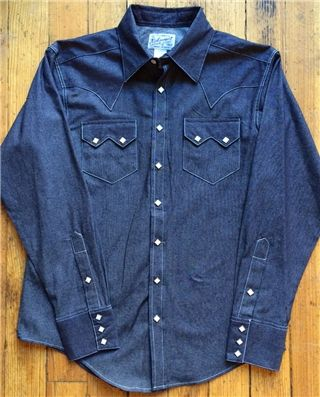 22a5b384c4d Slim Fit No Wash Denim Western Shirt