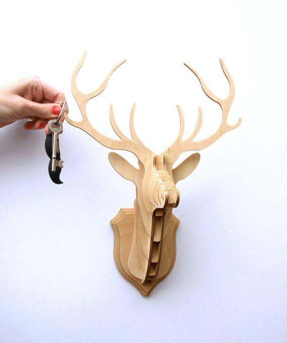 projects ideas dear head. Deer Head Stag Wall Trophy  Key Hanger Random Home Pinterest
