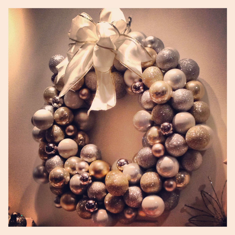 Christmas Wreath made from Dollar Tree christmas ball