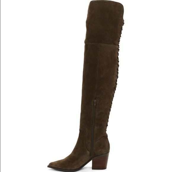 f0a087eef66 Aldo Haskova Boots. New this Fall! Aldo Haskova Boots. New this Fall! Olive  green suede over the knee boots. Shaft height 23in