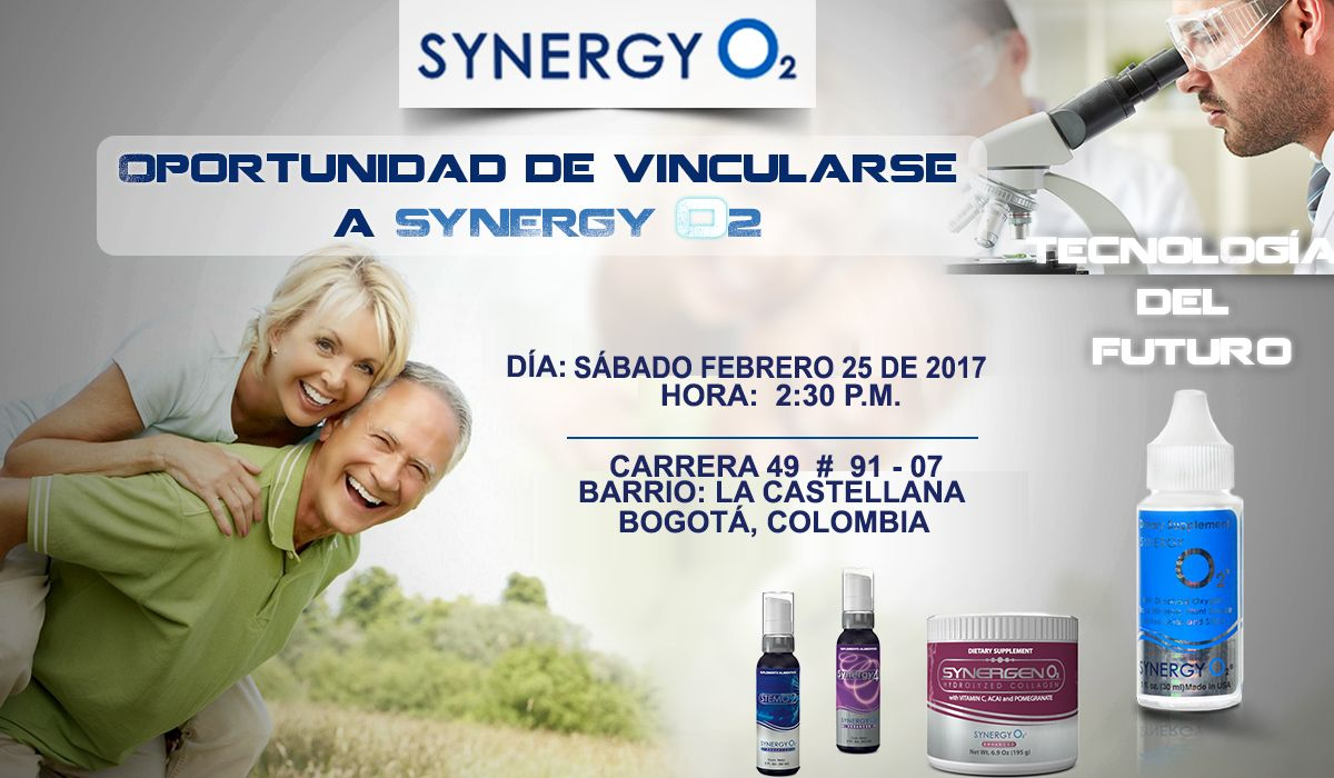 Synergy O2, Oxígeno Líquido, Synergy4, StemO2, SynergenO2, EnergyO2 ¿Tu, familiar, amigo, vecino, compañero de trabajo, universidad, son potenciales fumadores, han intentado dejar de FUMAR, CONSUMIR BEBIDAS ALCOHÓLICAS y    NO obtienen LA DESINTOXICACIÓN  orgánica? Comparte esta información, contribuye oportunamente y salva una vida.Te esperamos. Beneficio del OXÍGENO en los seres vivos. DESINTOXICA, NUTRE Y RESTAURA TU CUERPO.  LLAMA YA...! 318 840 79 64 - 317 2140148.