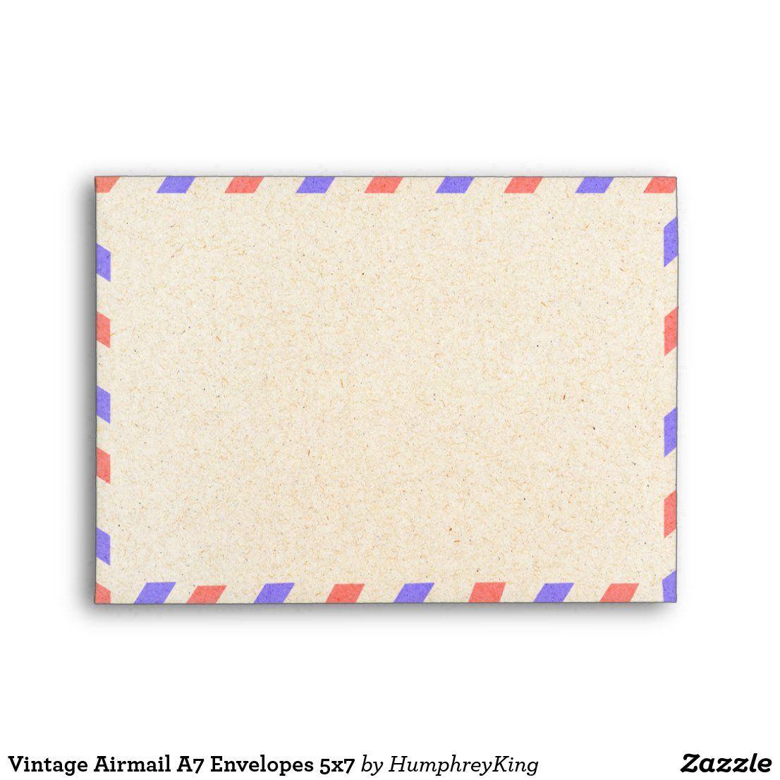 Vintage Airmail A7 Envelopes 5x7 Zazzle Com Custom Printed Envelopes Custom Envelopes Printed Envelopes