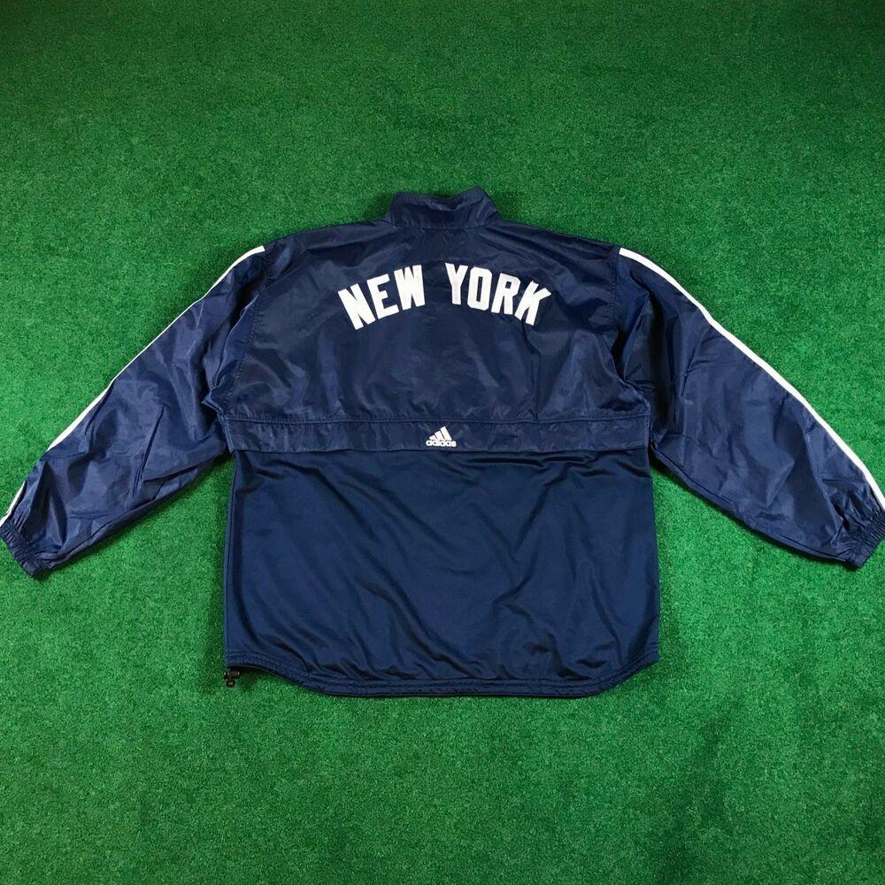 VINTAGE ADIDAS NEW YORK YANKEES MLB WORLD SERIES BASEBALL