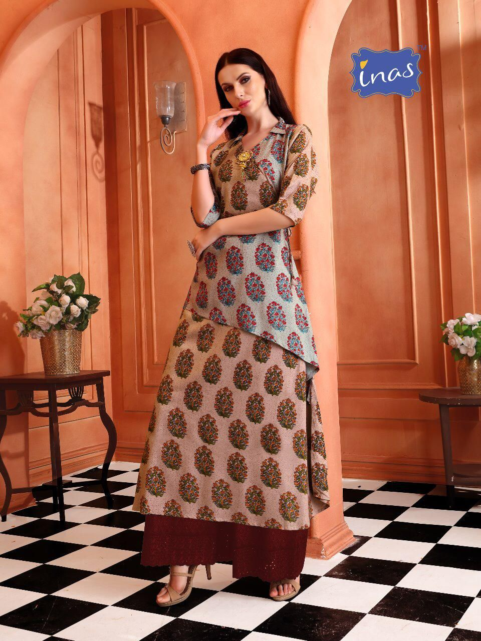 a074b257f0b  Kriyansh  textile inas Rayon Gown Style Party wear  trendy kurtis  wholesaler.  Buy online  2019 latest Designer Inas kurtis buy wholesale  rate at  catalog ...