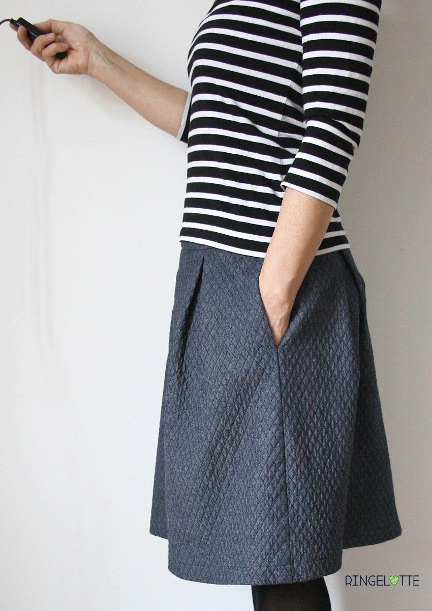 Rock Kate mit Seitentaschen von schnittchen   clothing inspiration ...