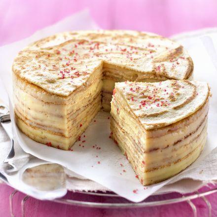 gâteau de crêpes à la crème pâtissière citronnée alsa®   recette