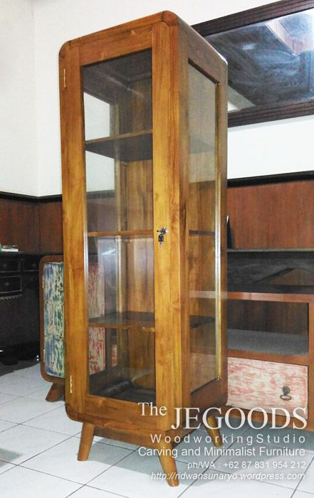 We Produce Vintage Retro Cabinet Display With Glass Made Of Premium Teak  Wood At Affordable Price By Jepara Goods Furniture Indonesia.