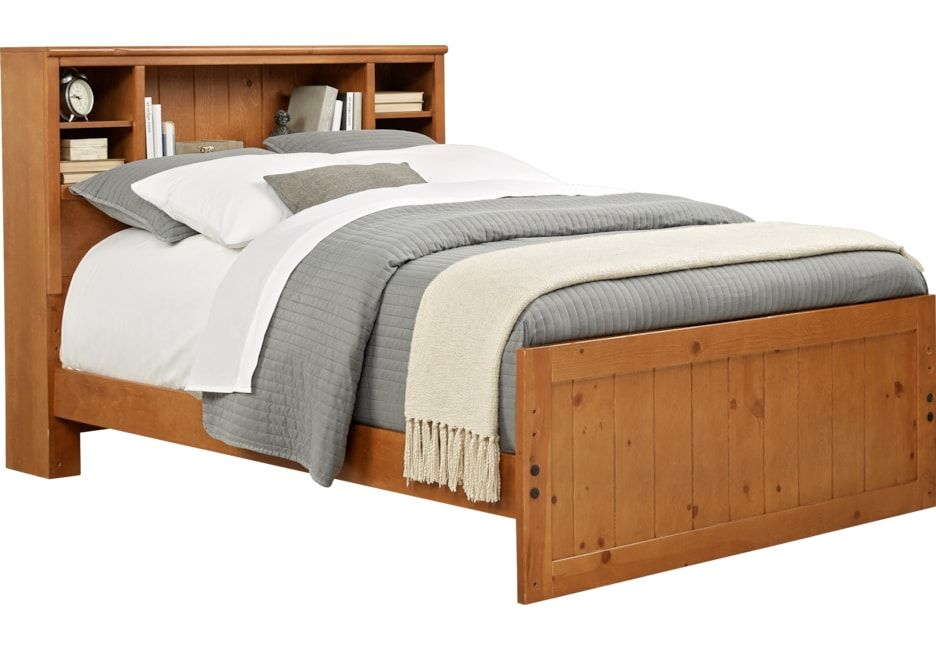Creekside Taffy 4 Pc Full Bookcase Bed Bedroom Furniture Stores