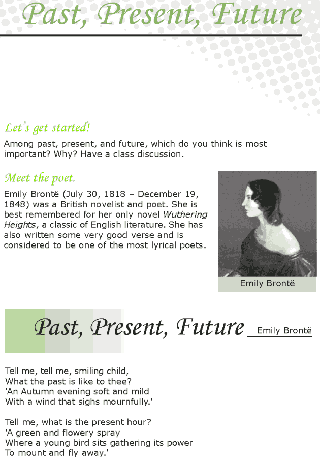 Grade 7 Reading Lesson 7 Poetry Past, Present, Future   6th