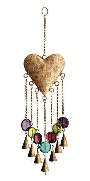 Watch our Heart Windchimes move gracefully in the wind by tracey