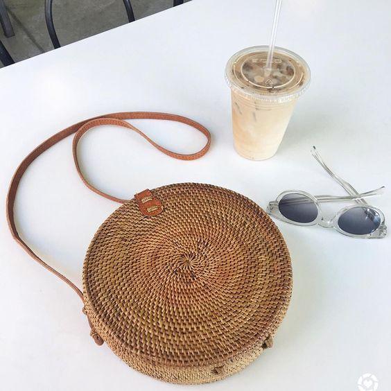 Rattan Bali Straw Bag Accessories 2018 Bag Woven Bag Rattan