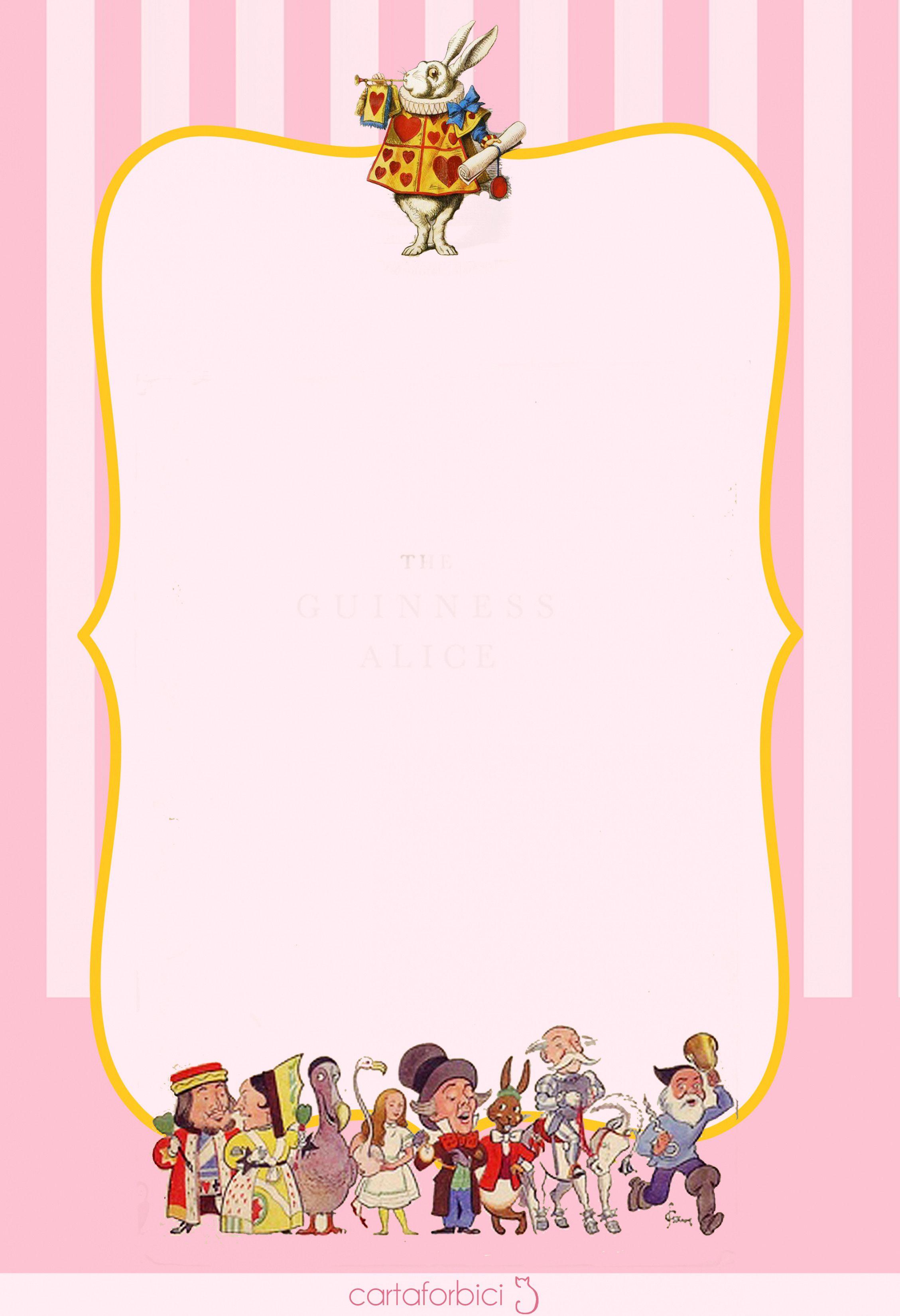 Alice In Wonderland Invite Template Elegant Alice In Invitation