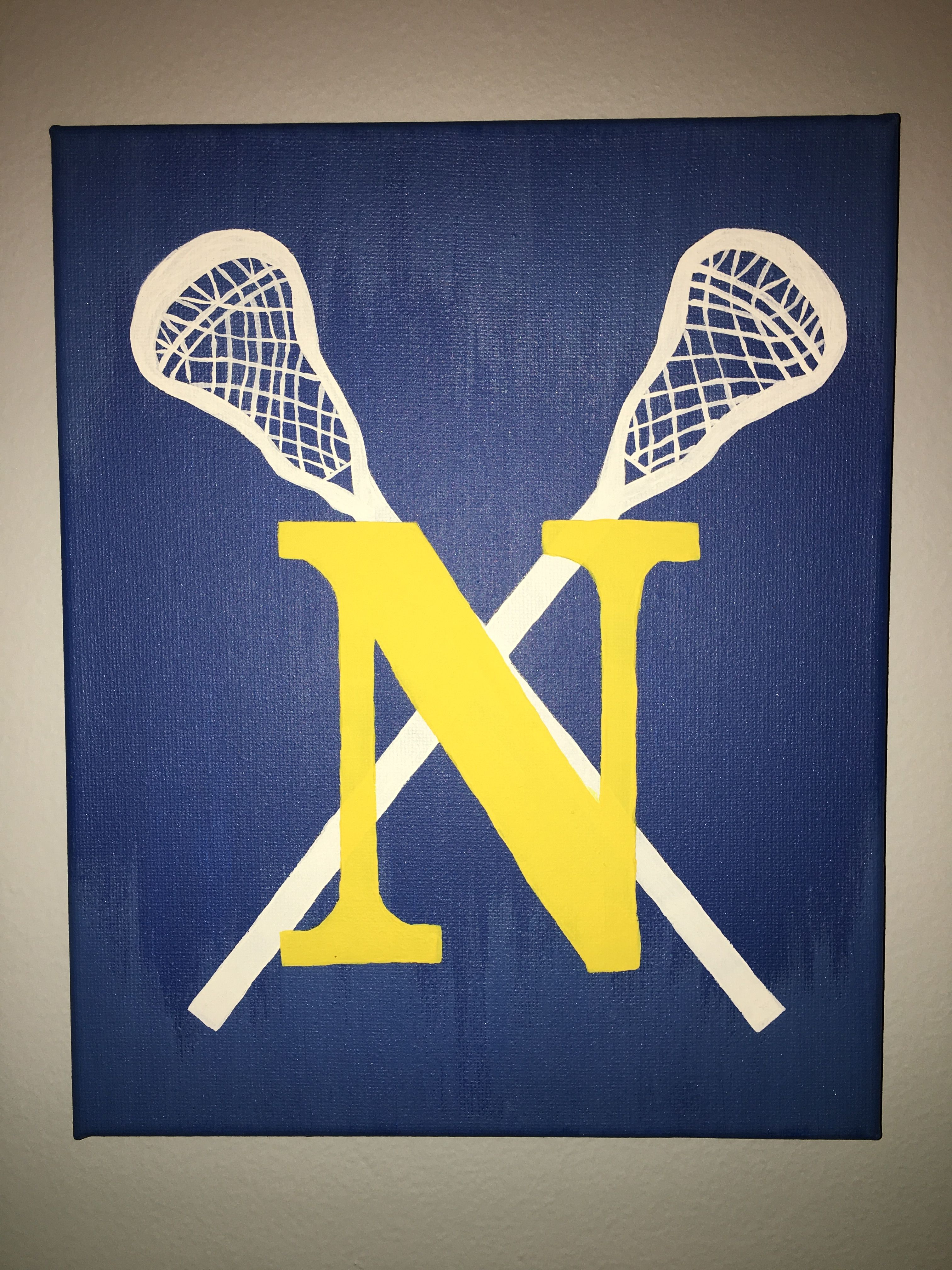 Lacrosse Canvas Painting With Images Lacrosse Room Decor