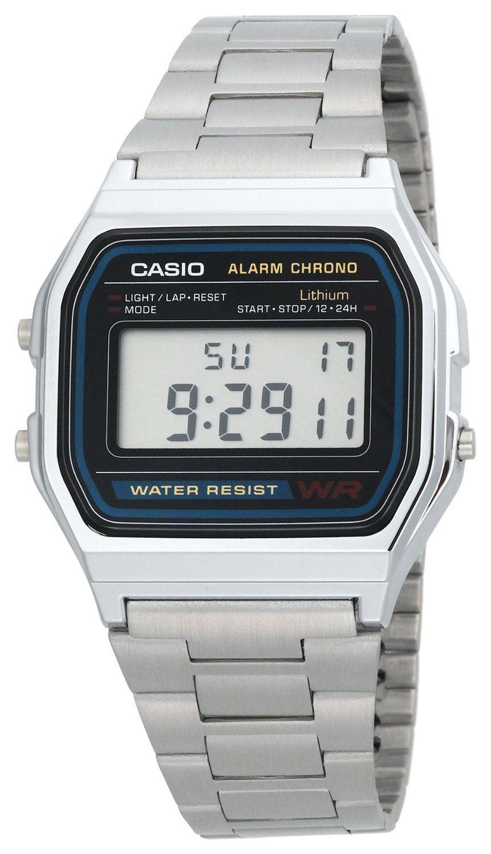 Casio Men's A158W-1 Classic Digital Bracelet Watch: Watches: Amazon.com