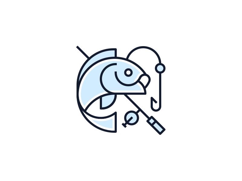 Fishing Icon Fish Icon Fish Logo Logo Inspiration