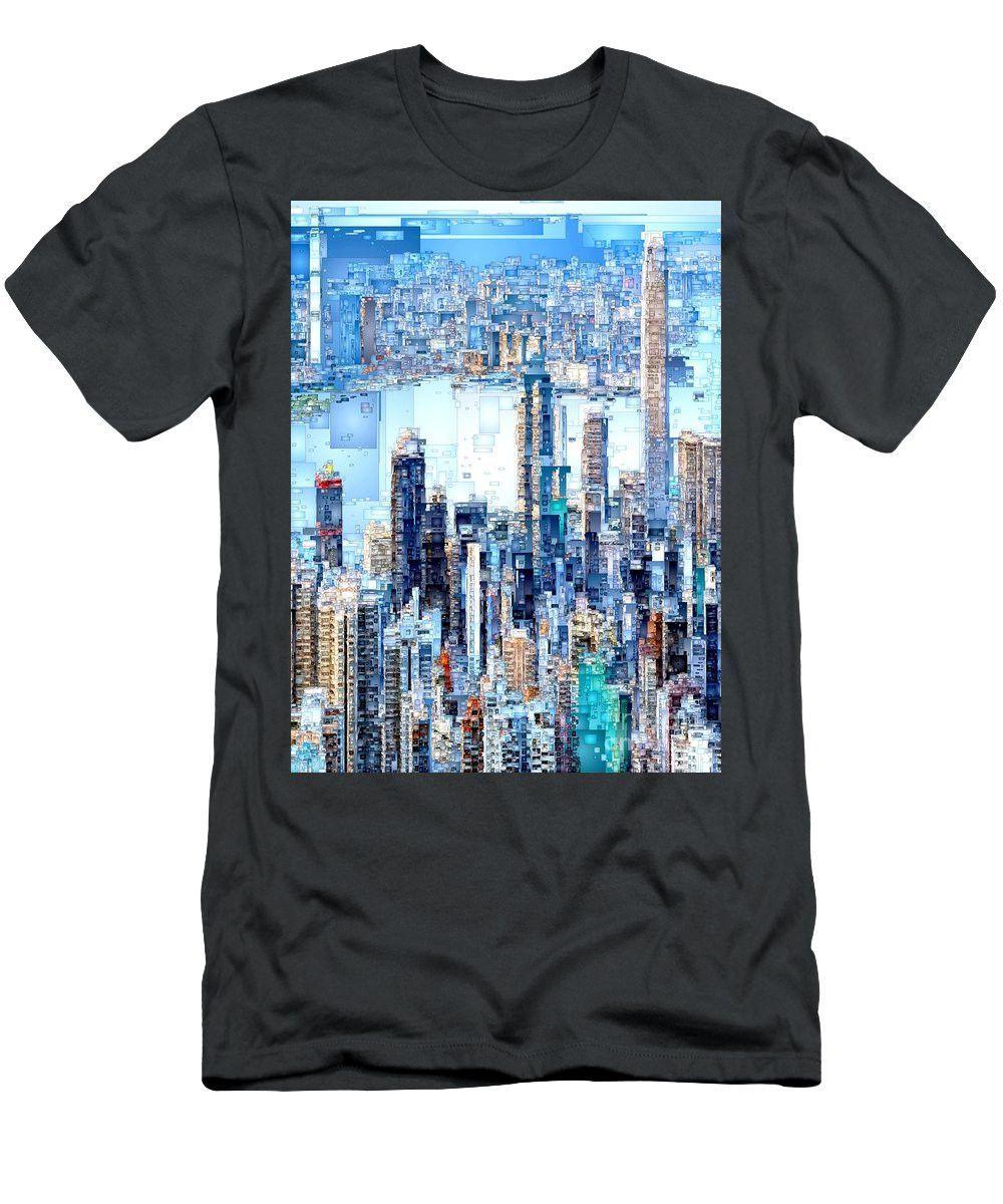 Men's T-Shirt (Slim Fit) - Hong Kong Skyline