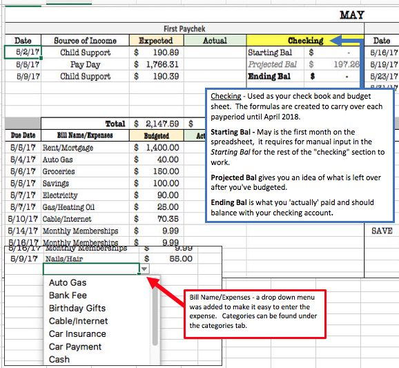 Biweekly pay period budget sheet, that doesn\u0027t suck Family - bi weekly monthly budget spreadsheet