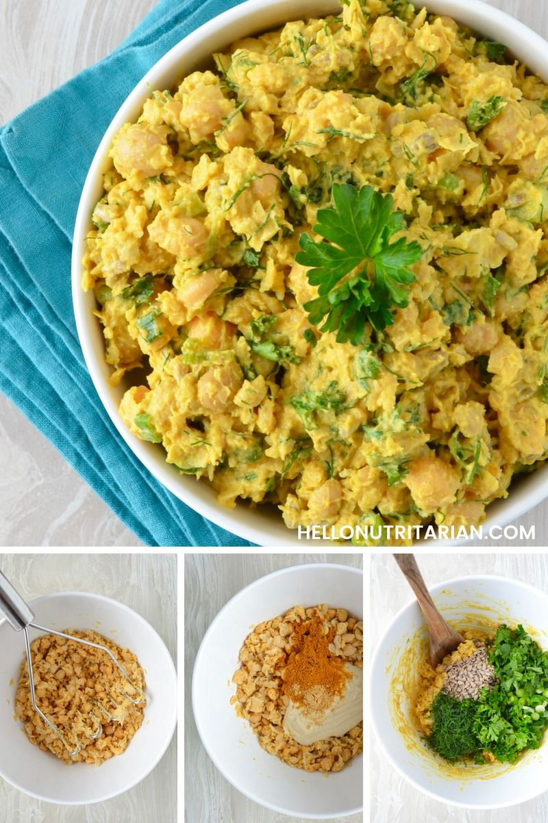 No Oil Curried Chickpea Salad
