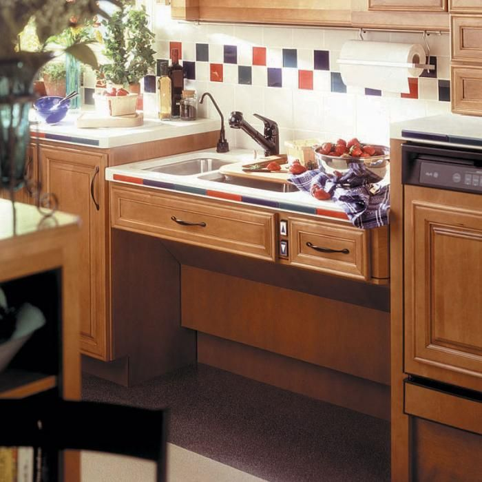 Accessible Kitchen Design Approach Adjustable Sink Lift System  Handicap Accessible  Aging
