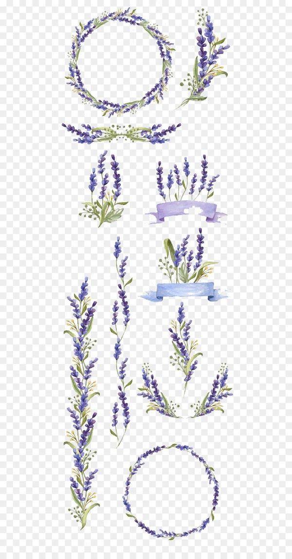 ornamen bunga lavender ungu png untuk undangan pernikahan di 2020 undangan bunga cat air pinterest