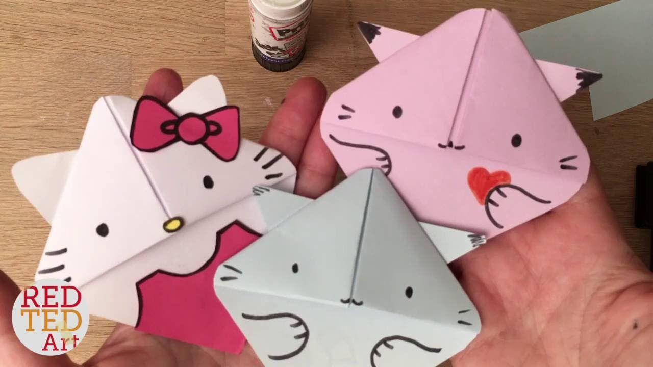 Easy Cat Bookmark Hello Kitty Kawaii Kitten Paper Crafts