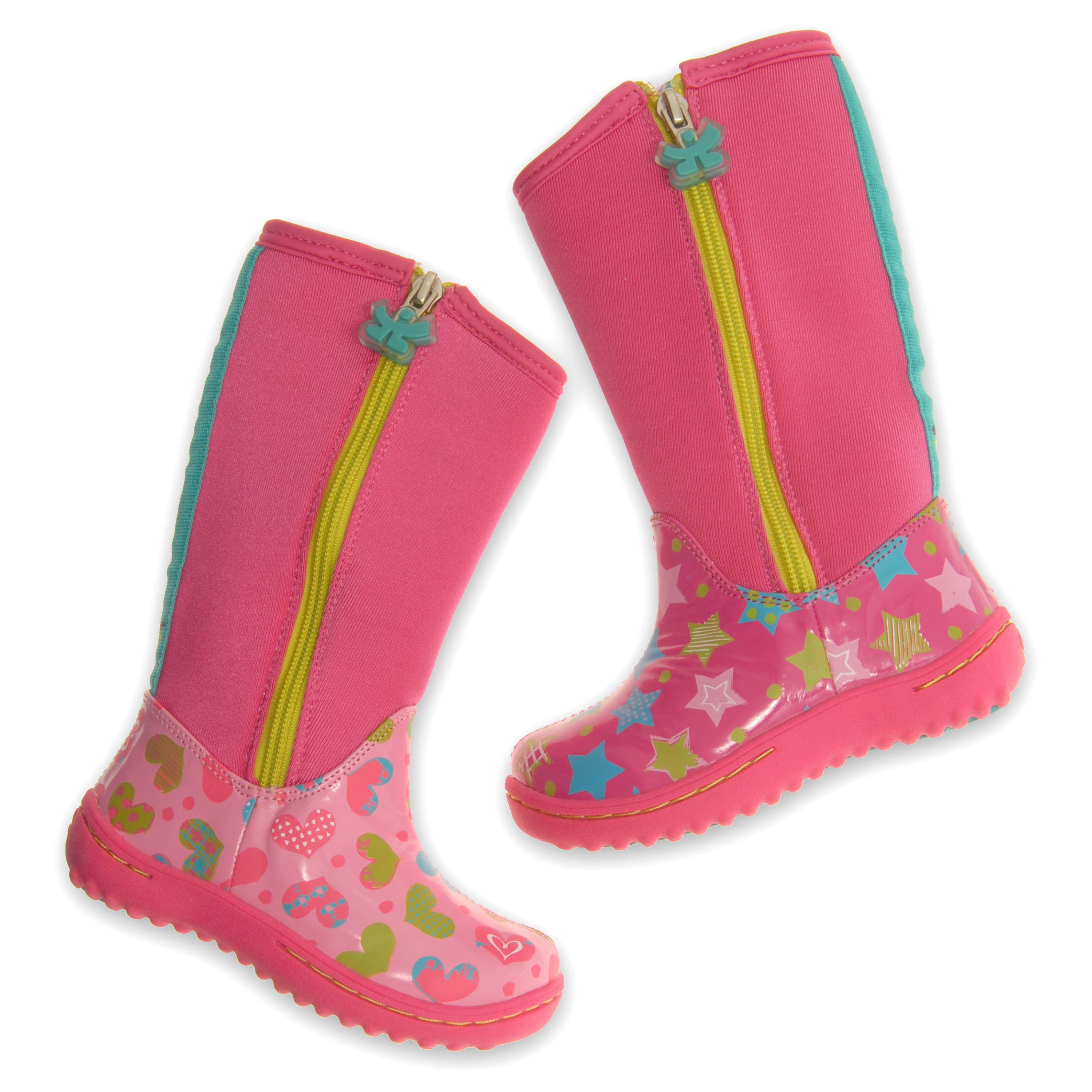Our awesome Stomp boots in Celebrate prints #chooze #choozeshoes #boots #kidsboots #stomp