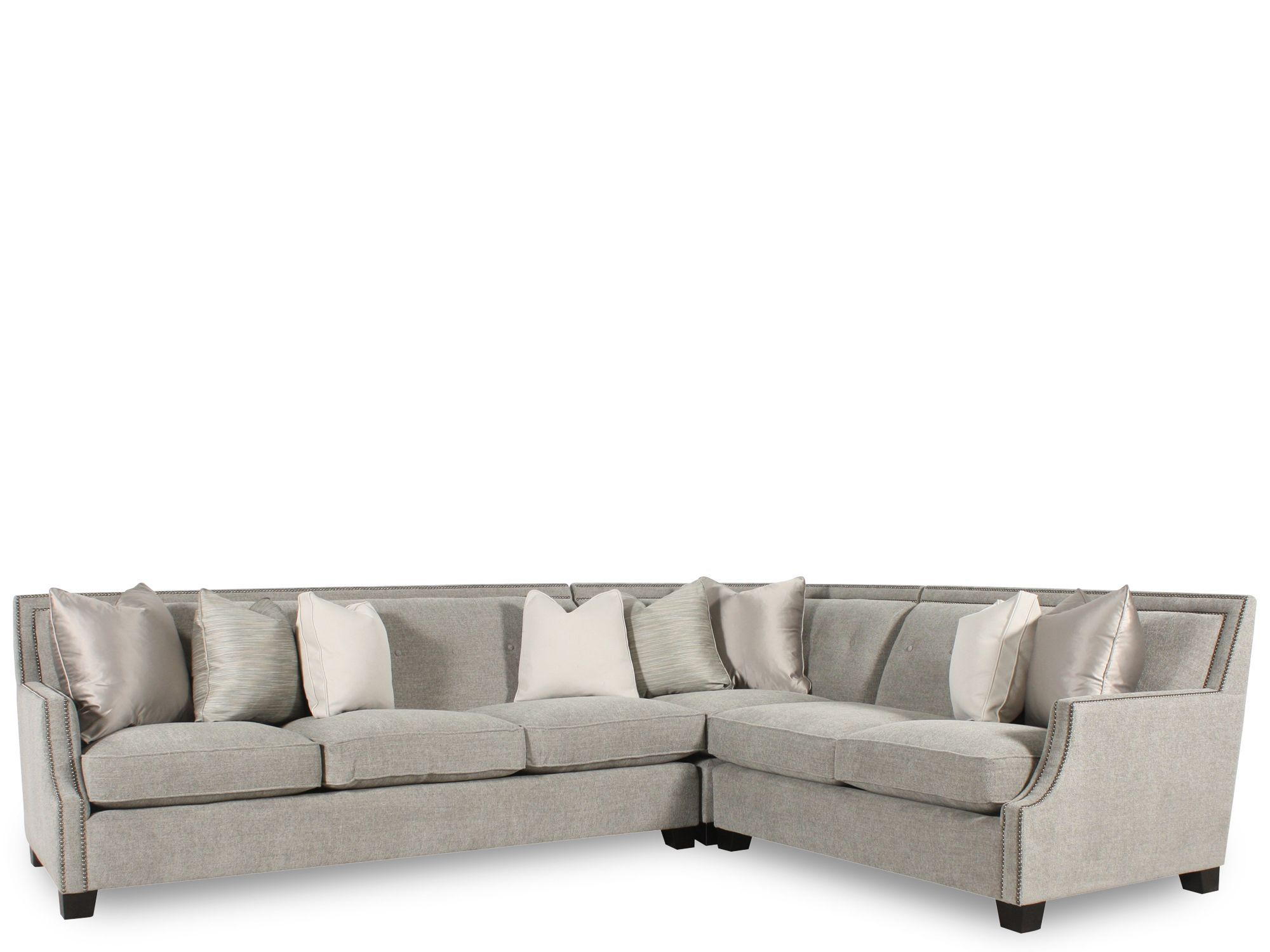 Bernhardt Interiors Franco Three Piece Sectional Family Room
