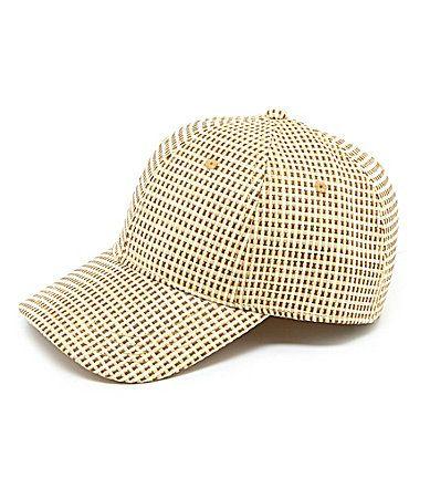 Cremieux Straw Baseball Cap  Dillards  55e1be50ecb