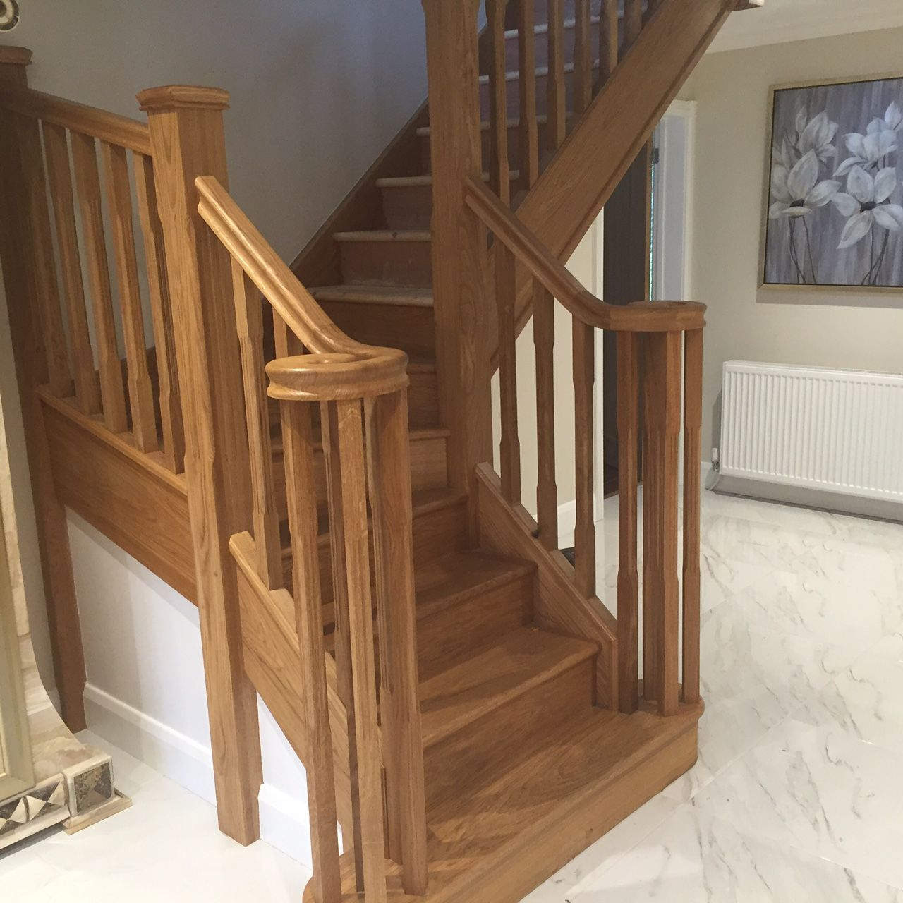 Oak Staircase With Volute Handrail