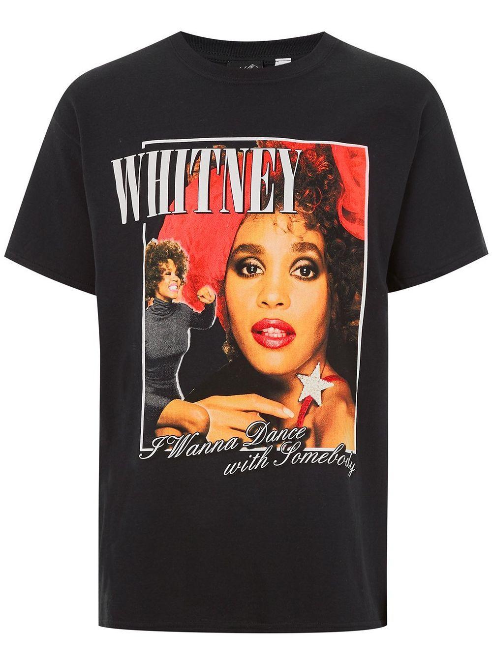 372c20000d0 Black Whitney Houston T-Shirt - TOPMAN USA