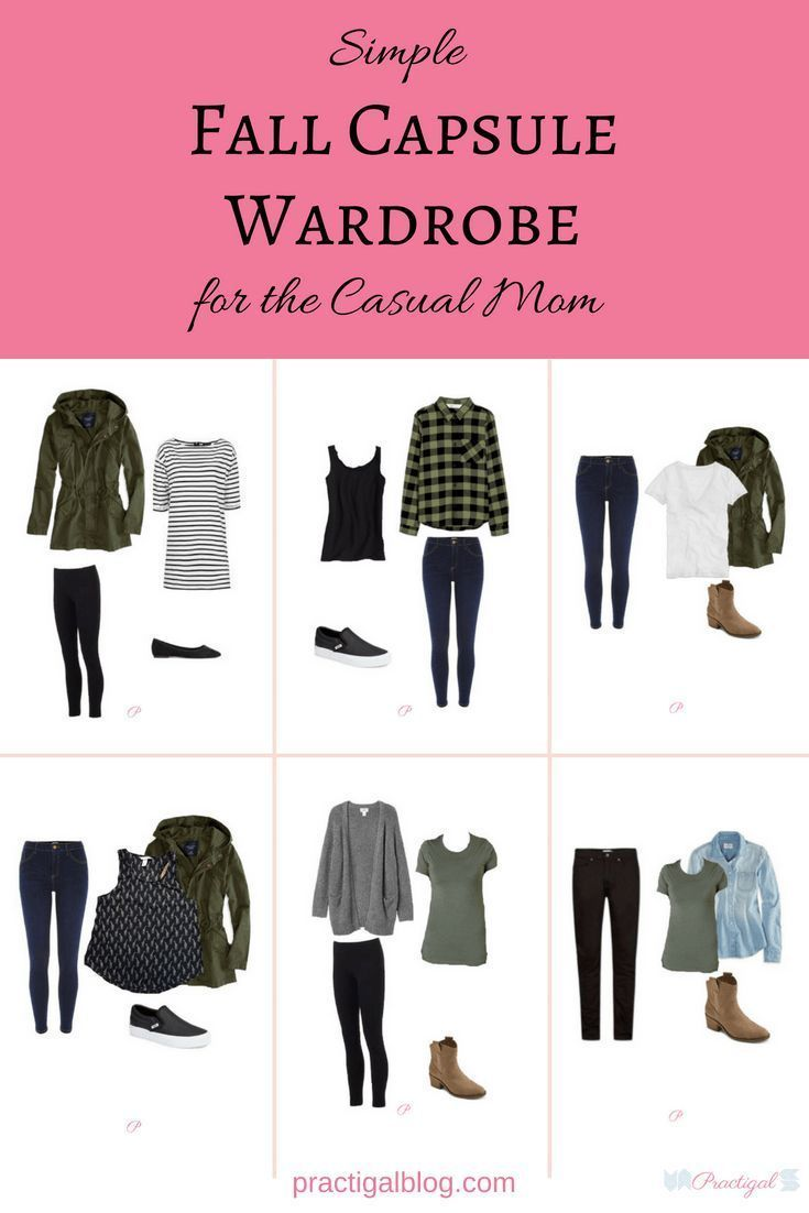 This fall capsule wardrobe is both simple (in color and style) and casual, perfect