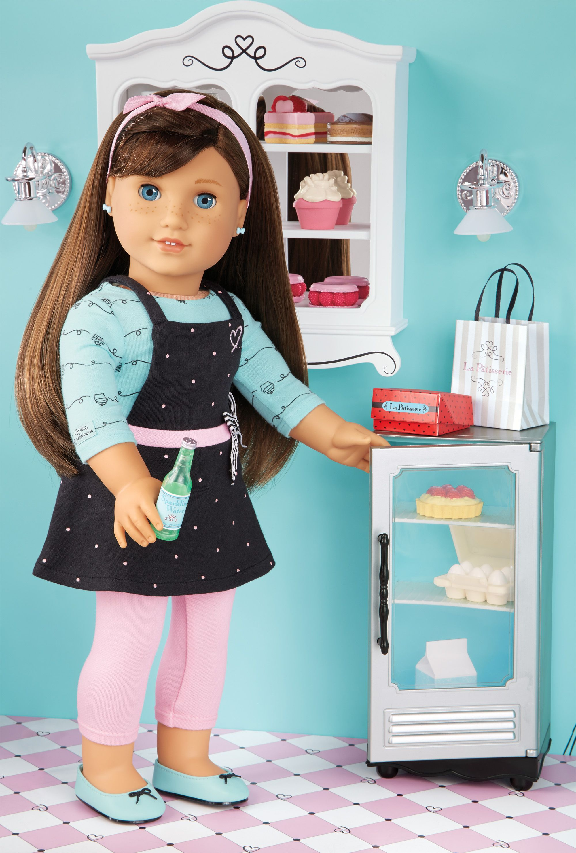 meet grace the 2015 american girl doll bakery accessories american girl and doll ideas. Black Bedroom Furniture Sets. Home Design Ideas