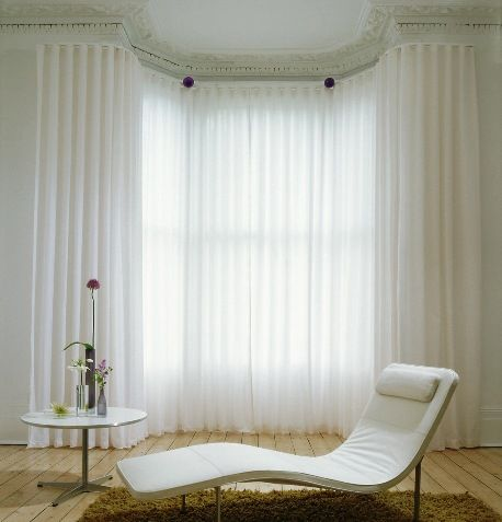 How To Hang Net Curtains On Bay Windows Curtain
