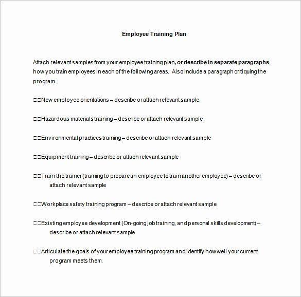Sample Training Plan Template New 26 Training Plan Templates Doc