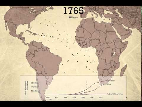 The Atlantic Slave Trade Visualized in Two Minutes 10,000 Million - new world map of africa