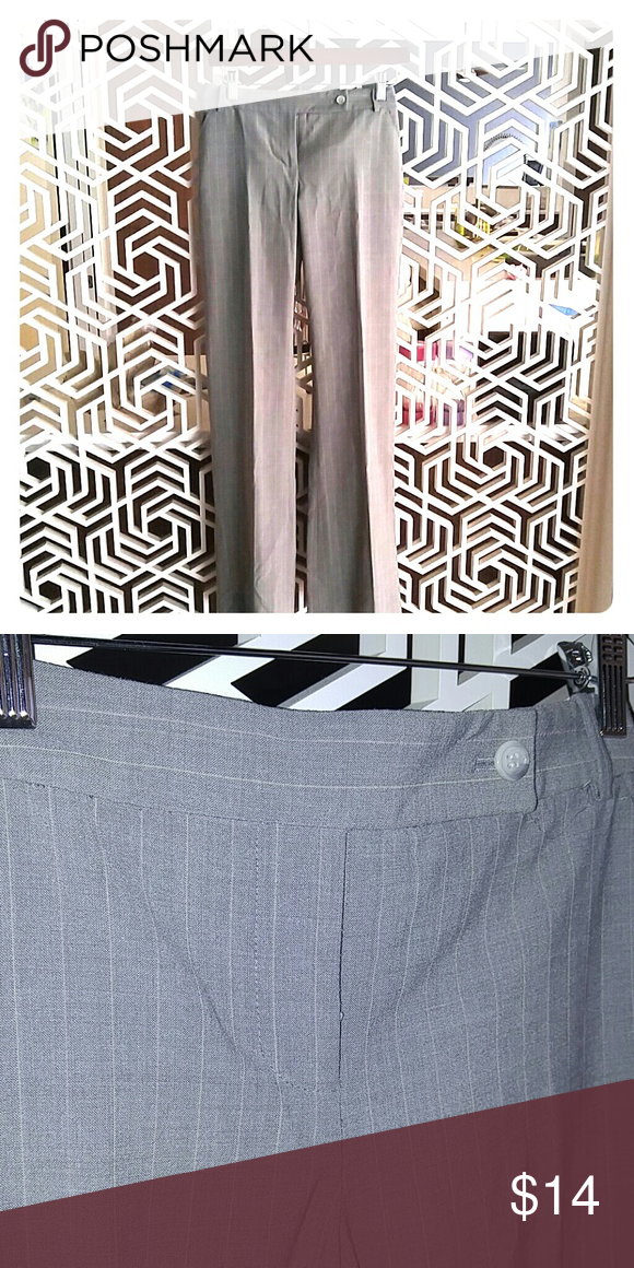 Limited gray slack w pink pinstripe drew fit sz 6 This is a sweet little slack from limited. they have a delicate pink pinstripe, great condition. The Limited Pants Trousers