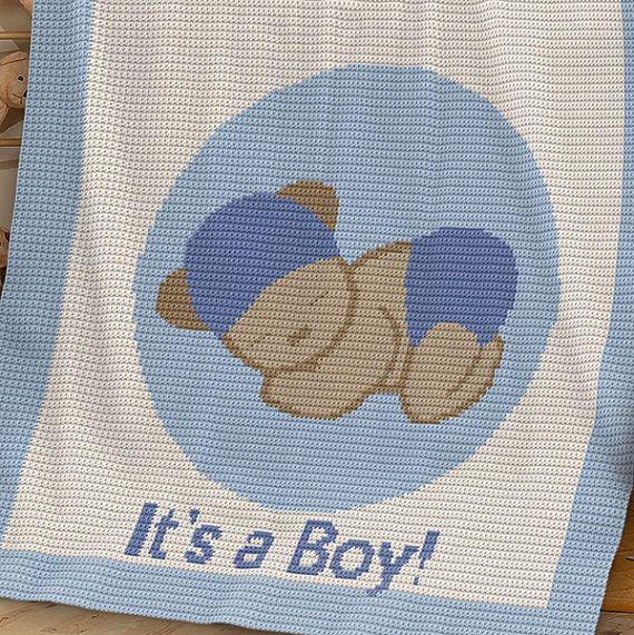 CROCHET Pattern Baby Blanket Pattern It\'s a Boy | babys and kids ...