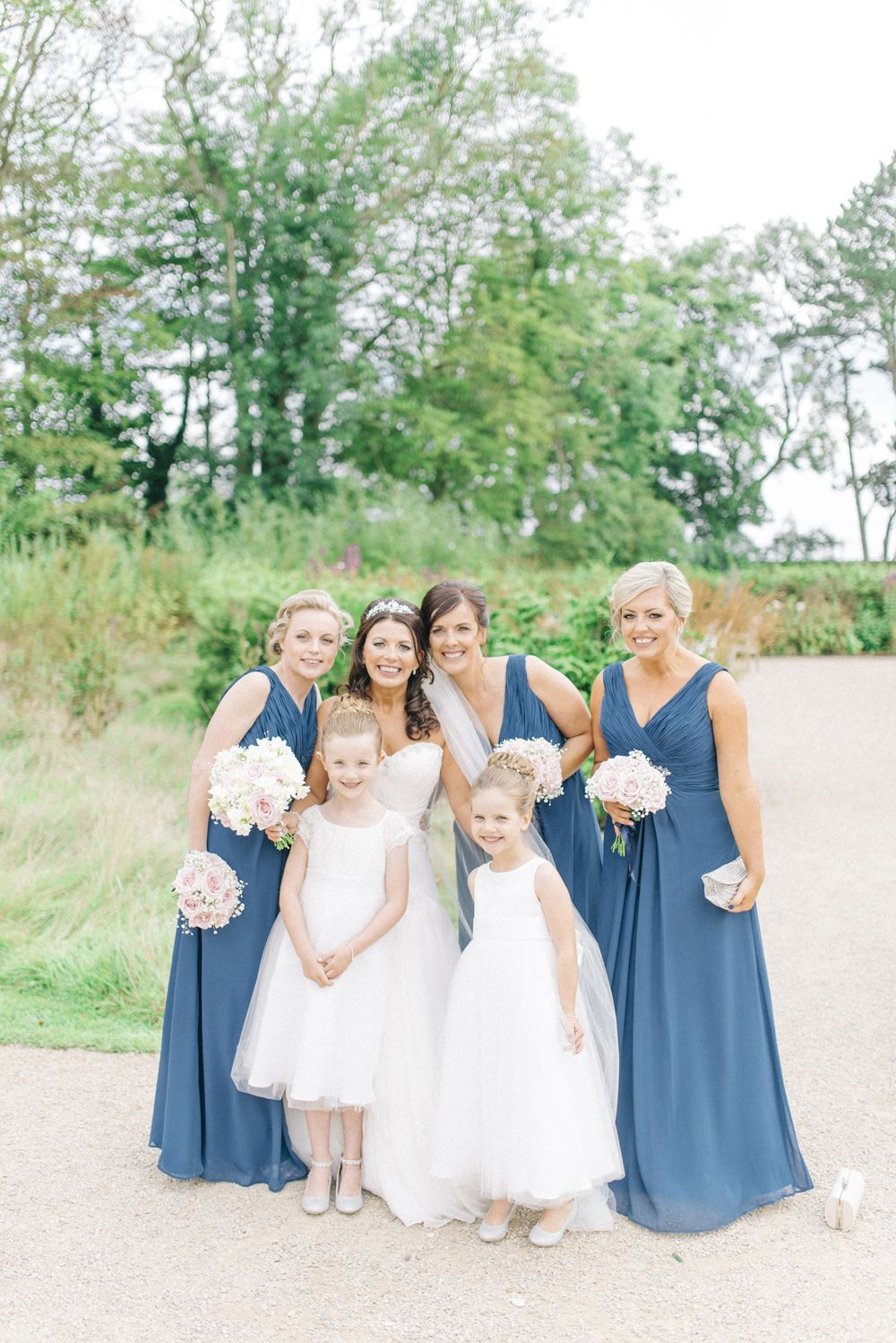 Newton hall vintage wedding with pastel pink blue colour scheme bridesmaids in blue dresses newton hall wedding venue vintage decor pastel pink ombrellifo Gallery