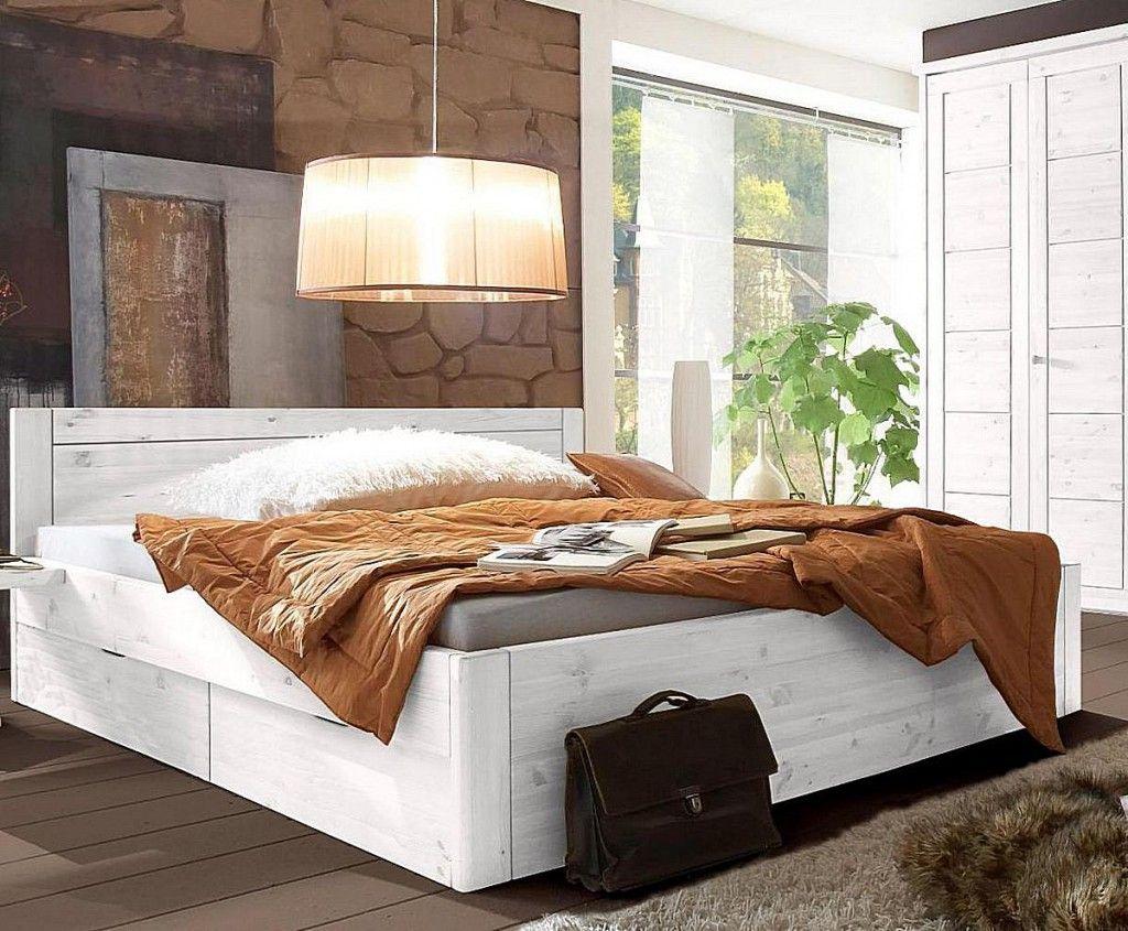 Massivholz Bett 180x200 4 Schubladen Komforthohe Xl Schubladenbett