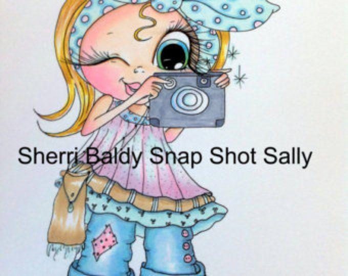 INSTANT DOWNLOAD Sie erhalten 2 Briefmarken in dieser Reihenfolge Digital Digi Stamps Big Eye Big Head Dolls Snap Shot Sally Scan0006 Bestie von Sherri Baldy