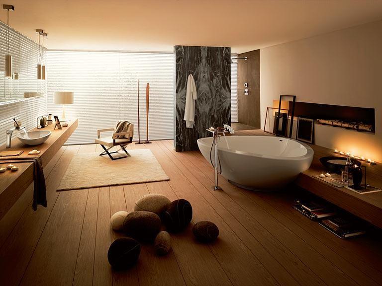 Badezimmer – praktische Wohntipps: Holz macht das Bad wohnlich ...