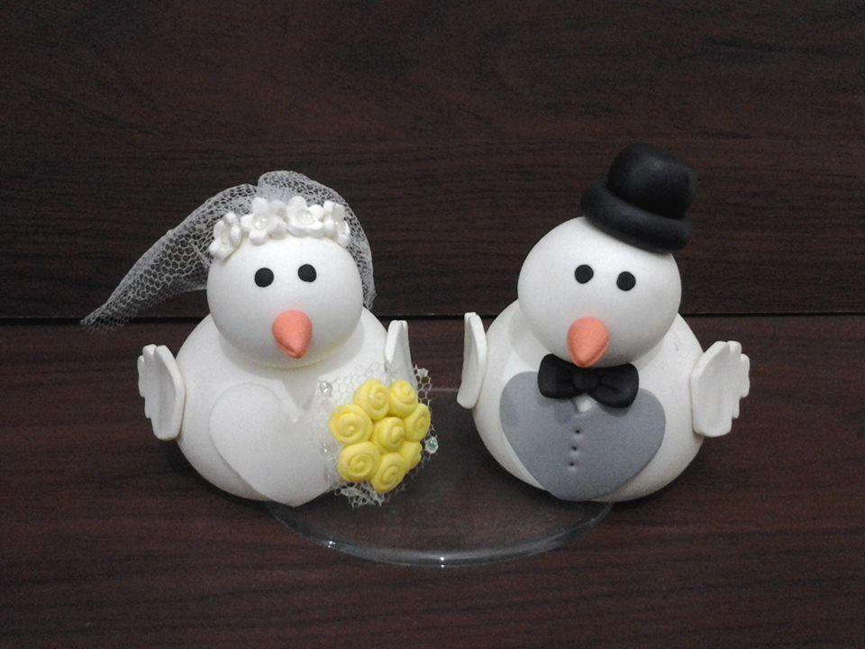 Para o bolo do meu casamento usei este topo. (For my wedding cake used this top.)
