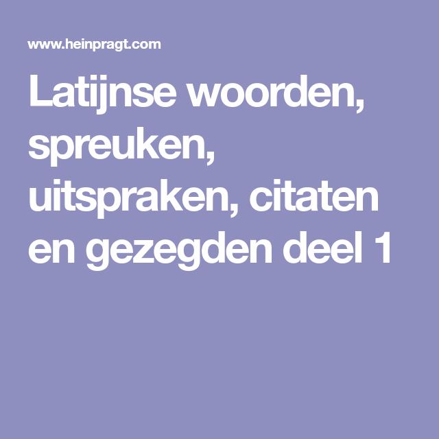 Citaten En Gezegden Over Vertrouwen : Latijnse woorden spreuken uitspraken citaten en