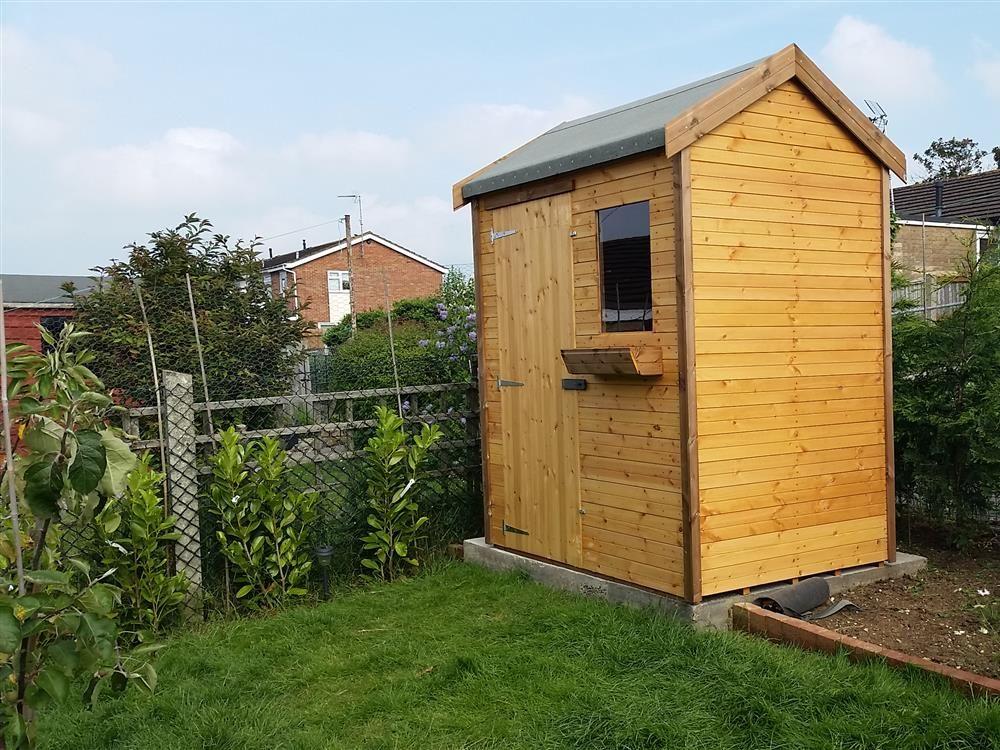 6x4 hipex a standard wood garden shed