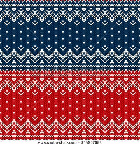 Christmas Sweater Design. Seamless Knitted Pattern   Knitting ...