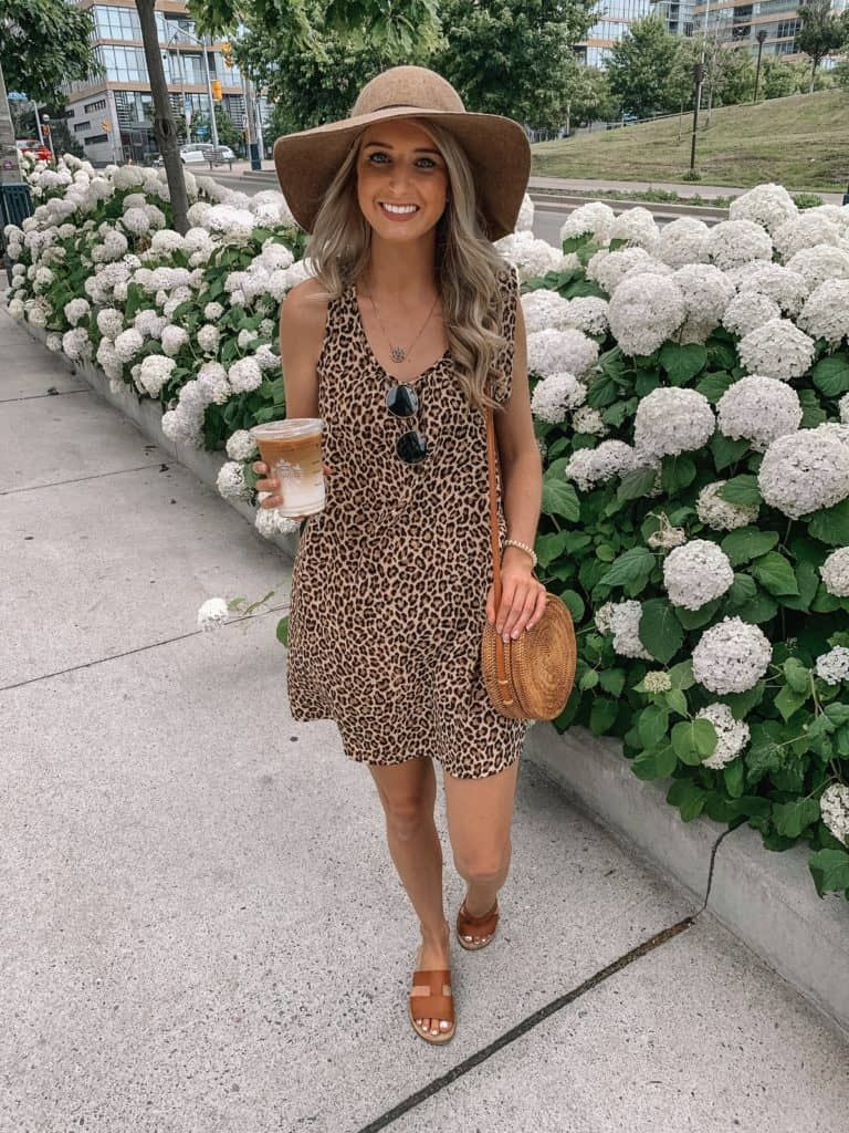 Trend Alert Leopard By Prada Pearls Fashion Blog Leopard Dress Outfit Spring Outfits Casual Simple Summer Outfits [ 1024 x 768 Pixel ]